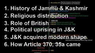 Jammu & Kashmir - Everything | History, Religion, Politics, Article 370 | Current Affairs UPSC, GK