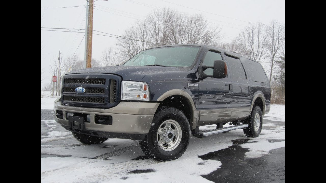 2005 ford excursion eddie bauer powerstroke diesel 4x4 sold