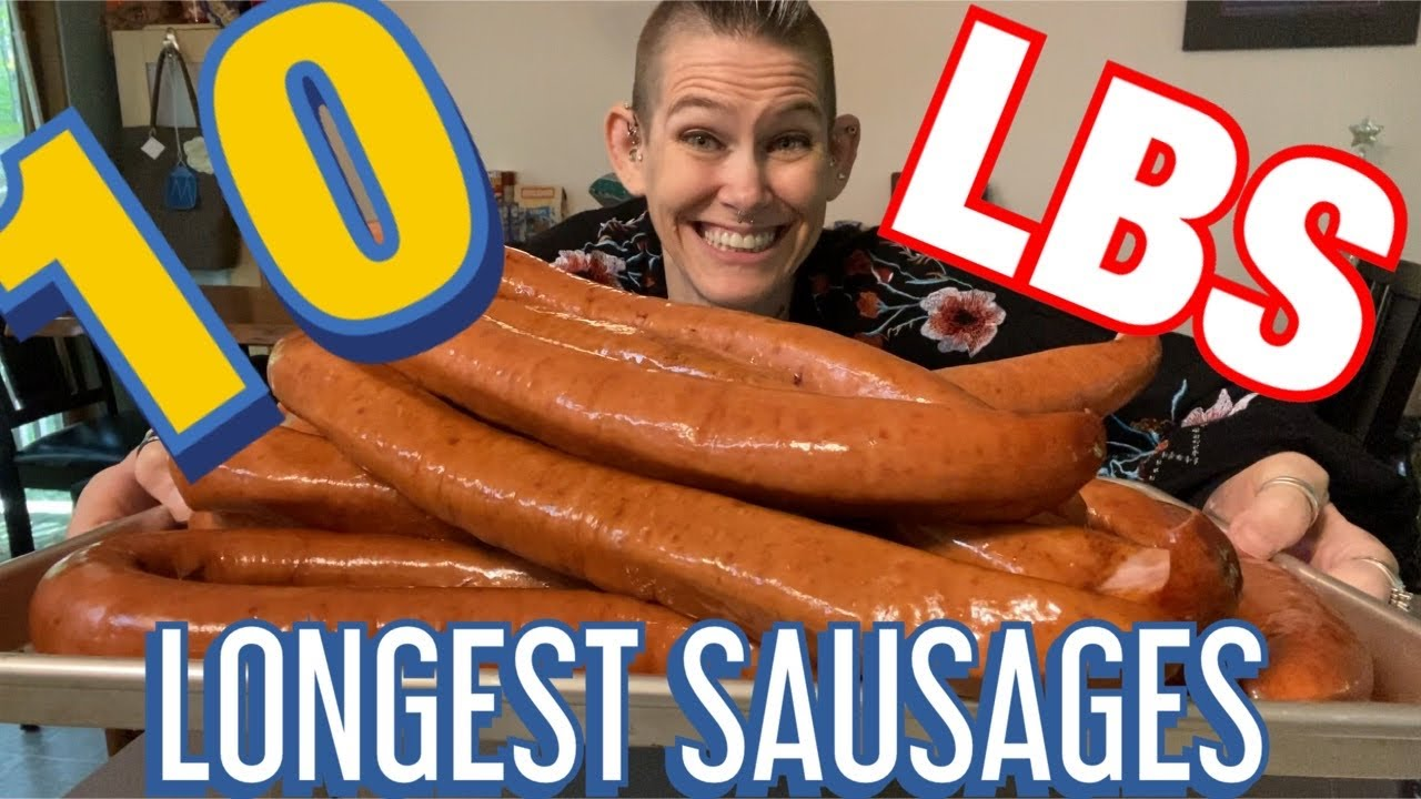 10 LB SAUSAGE CHALLENGE!!! FEET AND FEET OF MEAT!!! LONGEST MEAT EVER! | WOMAN VS FOOD