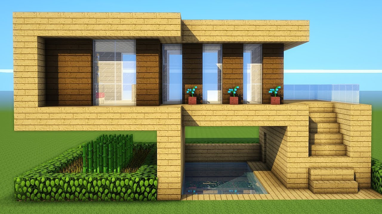 Minecraft How To Build A Starter Wooden House Tutorial