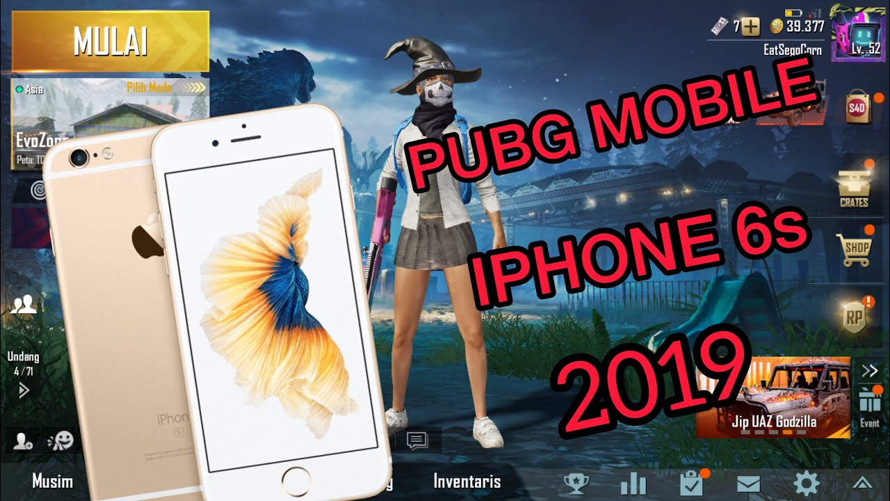 IPHONE 6s 2019 PUBG MOBILE