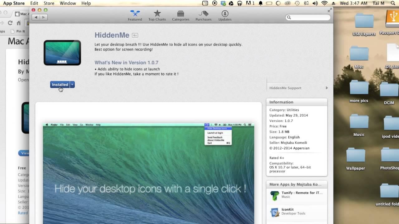 Mac Hide Desktop Icons App