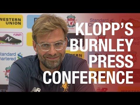 LIVE: Jürgen Klopp's Burnley press conference