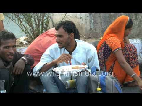 Free food distribution to the destitute of India