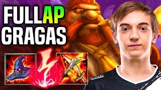 CAPS PLAYS FULL AP GRAGAS ft MIKIX! - When Caps Picks Gragas Mid! | Be Challenger