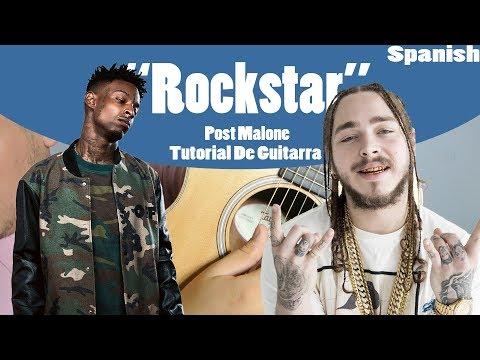 Rockstar Post Malone 21 Savage Easy Guitar Tutorial Spanish