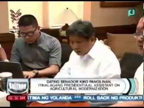 Dating Senador Kiko Pangilinan, itinalagang Presidential Assistant on Agricultural Modernization
