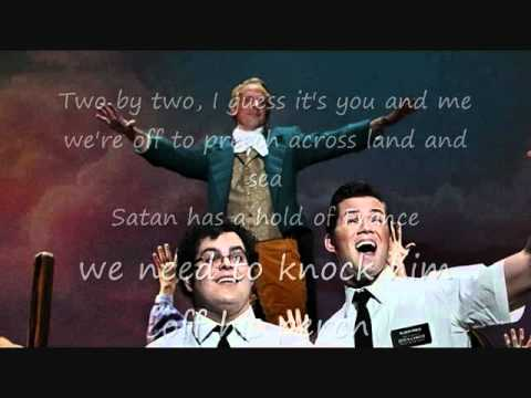 the book of mormon two by two lyrics youtube