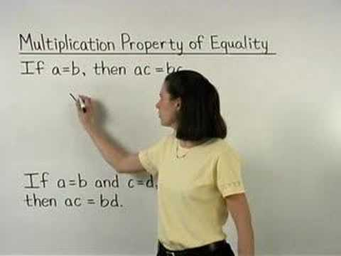 Multiplication Property of Equality - MathHelp.com