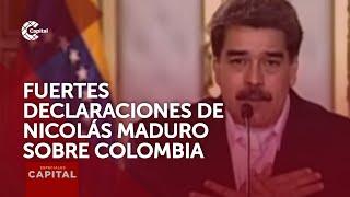 """""""Colombia es un narcoestado, socio de Donald Trump"""", Nicolás Maduro"""