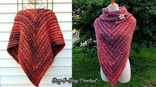 How To Crochet An Easy Shawl | One Vision | Bagoday Crochet Tutorial #630