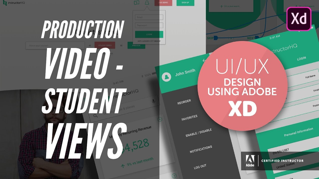 Production video - student views - UI/UX & Web Design using Adobe XD [11/42]
