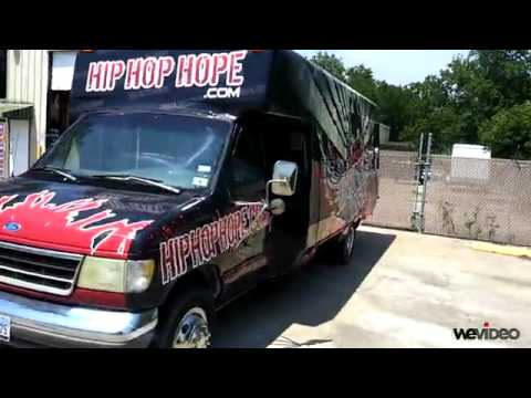 Hip Hop Hope Missions Shuttle Bus for Youth Outreach