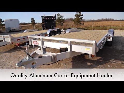 Quality Aluminum Car And Equipment Hauler