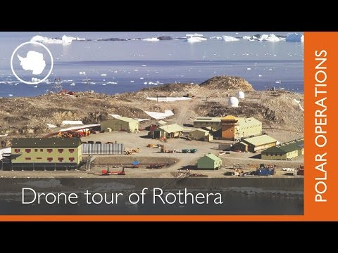 Tour Rothera Antarctic research station by drone