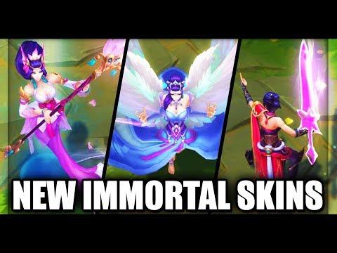 All New Immortal Journey Skins Splendid Staff Nami, Majestic Empress Morgana & Valiant Sword Riven