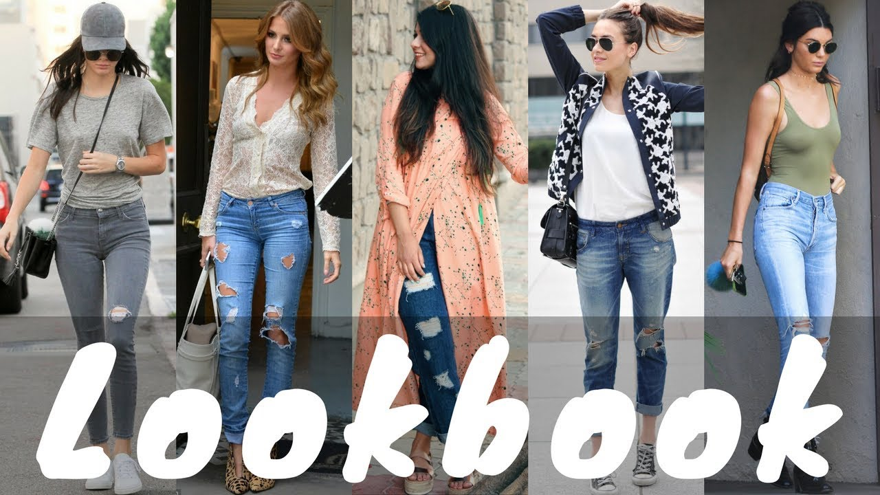 2018 Latest Ripped Jeans Outfit Ideas for Spring | Ripped Jeans Lookbook 2