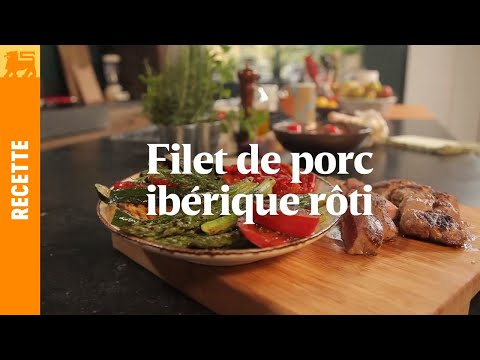 Filet de porc ibérique rôti