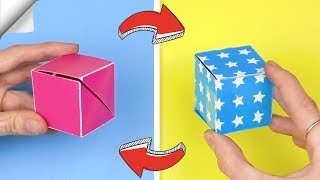 8 DIY crafts easy   Paper toy antistress transformer