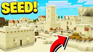 NEW DESERT VILLAGE SEED in Minecraft! (Village & Pillage Update)