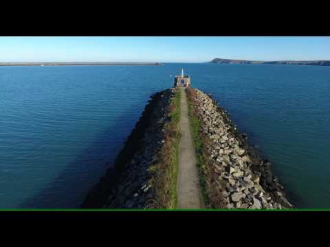 Carreg Cennen Castle & Fishguard, Wales - view from a drone