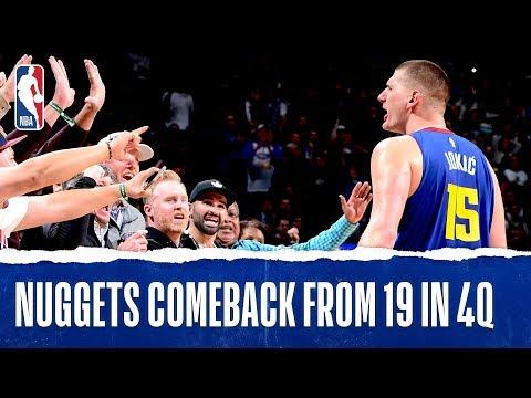 Nuggets Complete Franchise-Record 19-PT 4th-Quarter Comeback