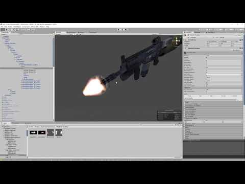 VRChat - Weapon Firing Effect With Muzzle Flash, Smoke, and Bullets
