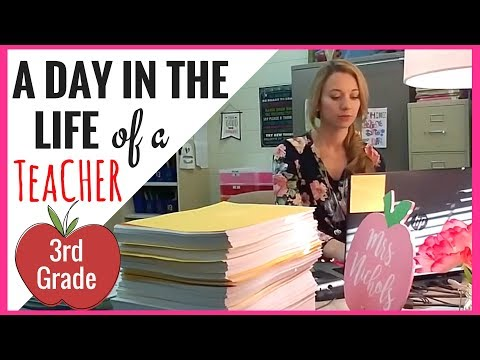 A DAY IN THE LIFE OF A 3RD GRADE TEACHER | A Classroom Diva