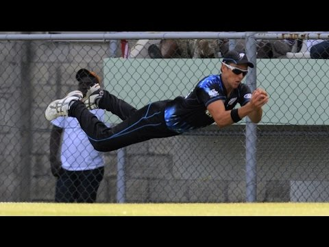 Amazing cricket catches by Trent Boult NZ Fast Bowler
