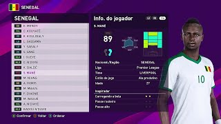 PES 2020 SENEGAL FACES & PLAYER RATINGS
