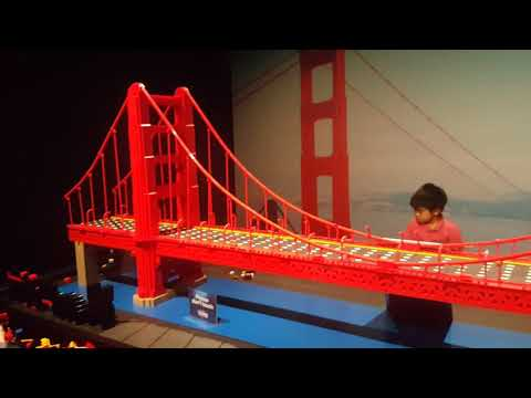 Golden Gate Bridge made of Lego  at Brickman Wonders of the World, Auckland