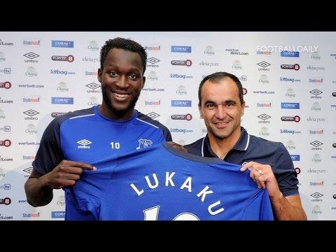 Everton unveil £28m record signing Romelu Lukaku