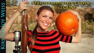 Precision Pumpkin Carving With A Gun! - Shooting Game