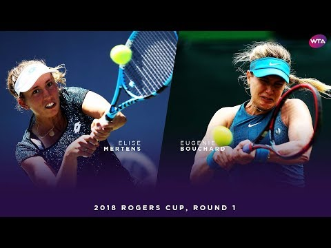 Elise Mertens vs. Eugenie Bouchard | 2018 Rogers Cup Round One | WTA Highlights