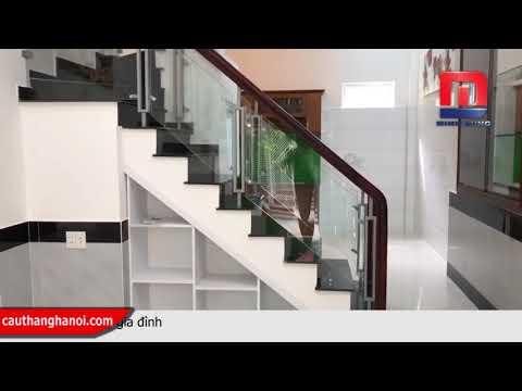 Cầu thang kính - Mẫu cầu thang kính giá rẻ nhất thị trường