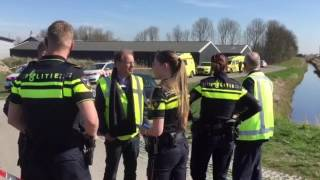LC video: Veel hulpdiensten bij ongeval Harlingen