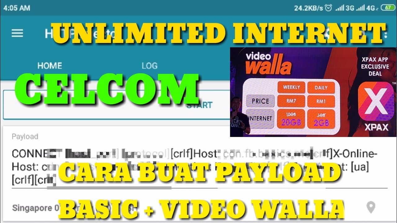 Trick Buat Payload Celcom Unlimited Internet ( Http Injector )