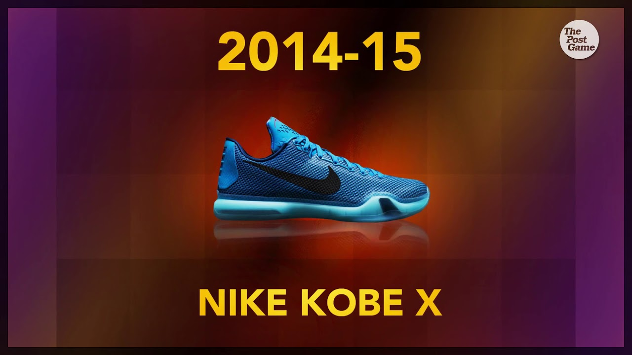 From Adidas To Nike Kobe Bryant S Signature Shoe Collection Youtube