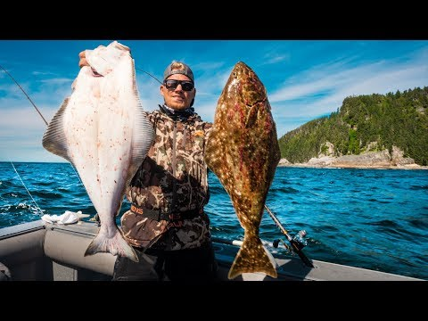 Remote Halibut Fishing in Alaska - Catch and Cook