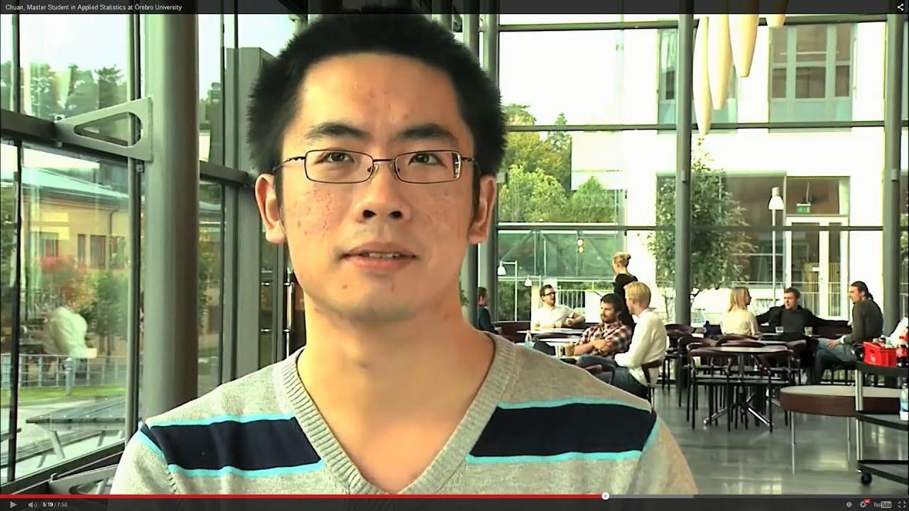 Chuan, Master's student in Applied Statistics at Örebro University