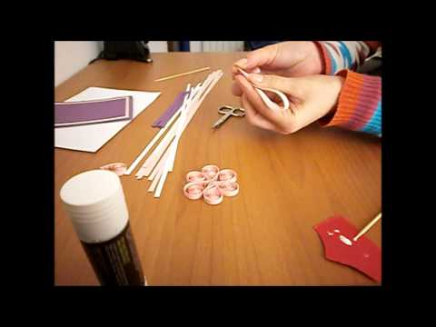 Papercraft How to: Quilling greeting card/ felicitare