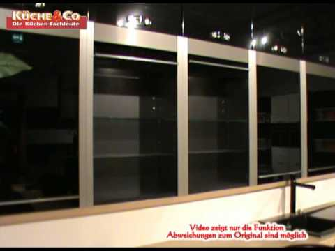 k che co h ngeschrank mit glas youtube. Black Bedroom Furniture Sets. Home Design Ideas
