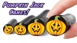DIY Pumpkin Jack Polymer clay cane Tutorial