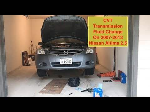 CVT Transmission Fluid change on 2007-2012 Nissan Altima