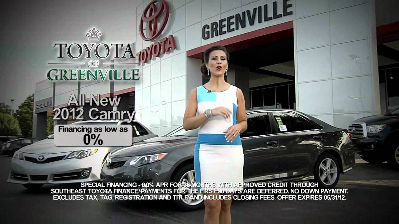 Toyota Of Greenville Sc >> Toyota Of Greenville Sc All New 2012 Toyota Camry Youtube