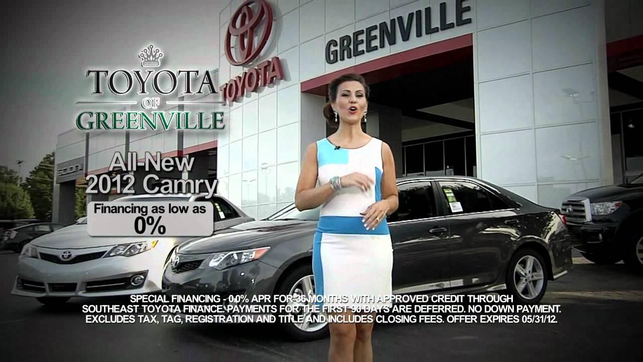 Toyota Of Greenville >> Toyota Of Greenville Sc All New 2012 Toyota Camry