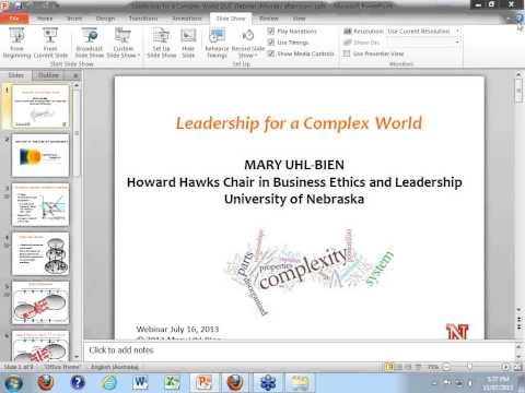 Leadership for a complex world - Global Connections webinar