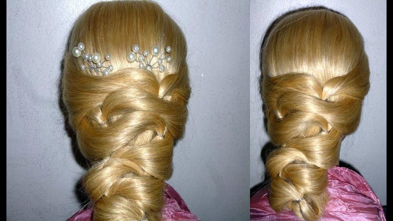 Einfache Frisur zum selber machen ohne FLECHTEN: Hochzeit/Abiball. Cute  Hairstyle. Peinados faciles