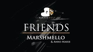 Marshmello & Anne-Marie - FRIENDS - Piano Karaoke / Sing Along / Cover with Lyrics