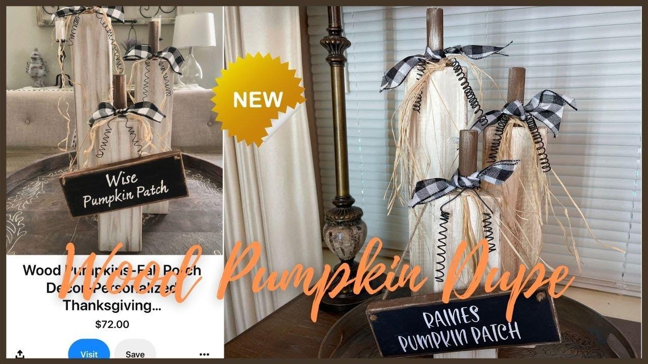 New Diy Wood Pumpkin   Fall Diy   Fall Decor Ideas